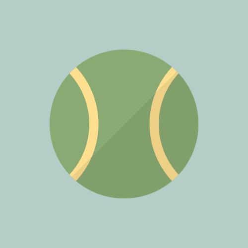 テニスボール カラーアイコン フリー素材