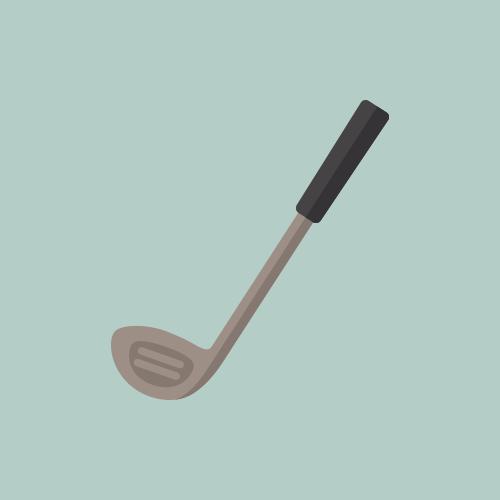 ゴルフクラブ カラーアイコン フリー素材