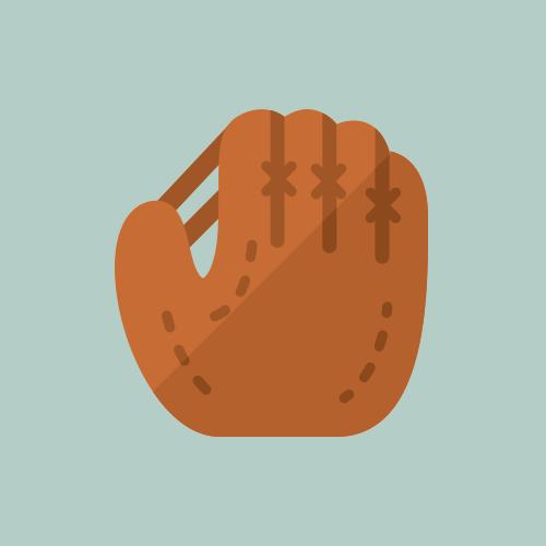 野球グローブ カラーアイコン フリー素材