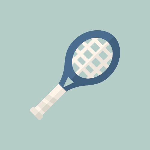 テニスラケット カラーアイコン フリー素材