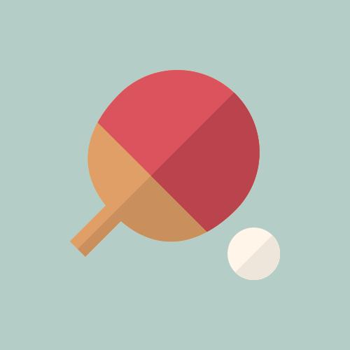 卓球 カラーアイコン フリー素材
