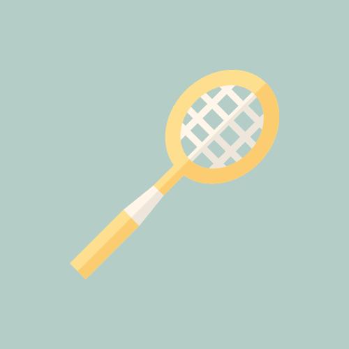 バドミントンラケット カラーアイコン フリー素材