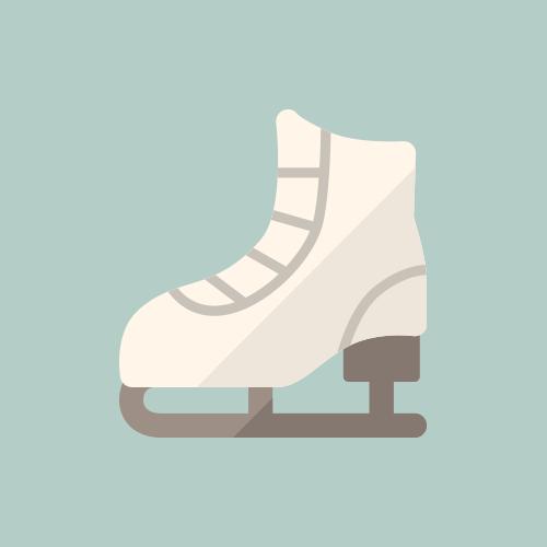 アイススケート カラーアイコン フリー素材
