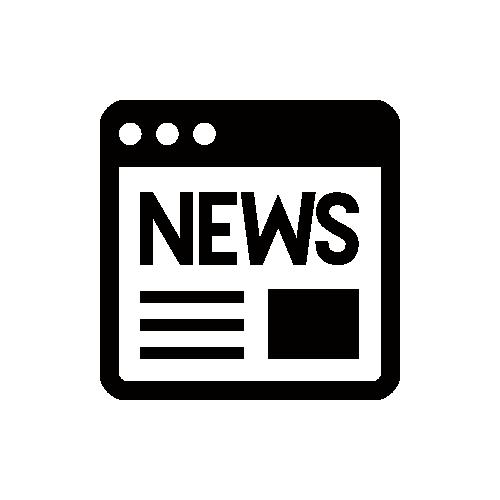 ニュース モノクロアイコン素材
