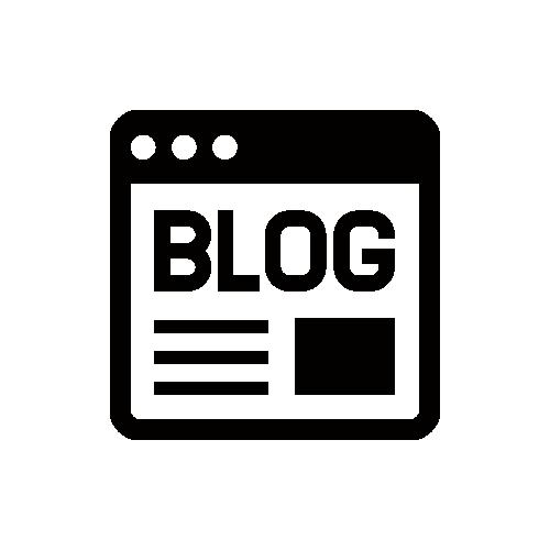 ブログ・BLOG モノクロアイコン素材