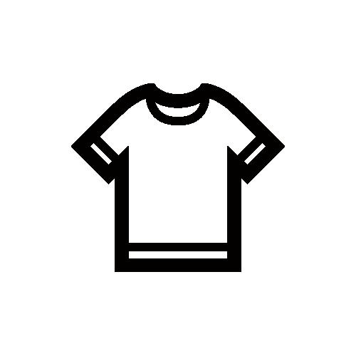 半袖Tシャツ モノクロアイコン素材