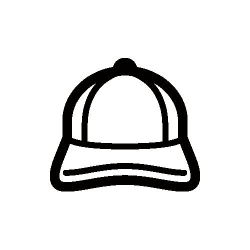 帽子・キャップ モノクロアイコン素材
