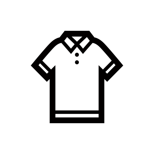 ポロシャツ モノクロアイコン素材