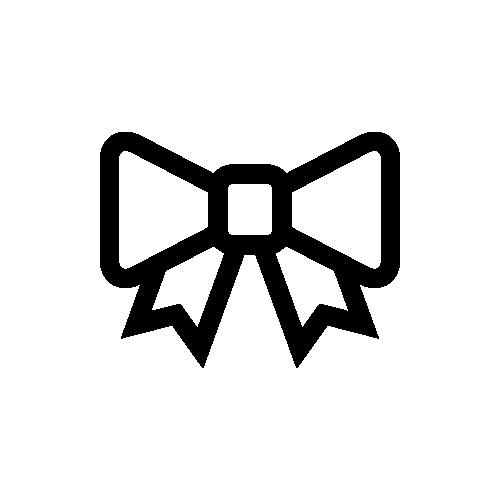 リボン モノクロアイコン素材