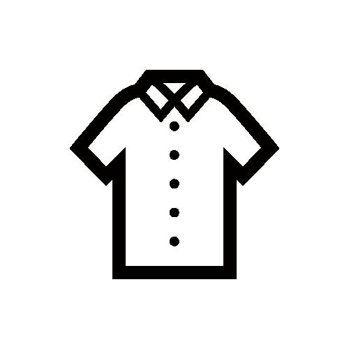 半袖シャツ モノクロアイコン素材