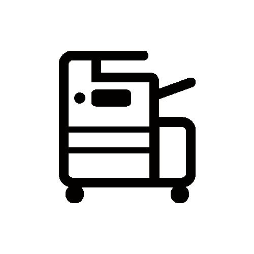 レーザープリンター モノクロアイコン素材