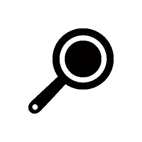 フライパン モノクロアイコン素材