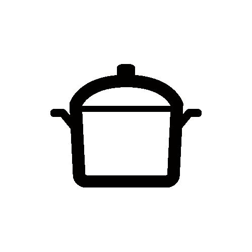 鍋 モノクロアイコン素材