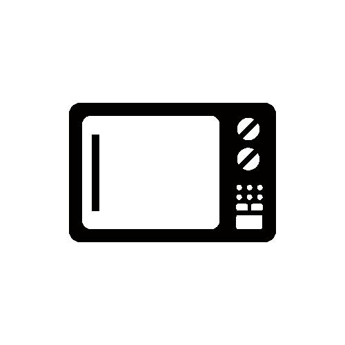 電子レンジ モノクロアイコン素材