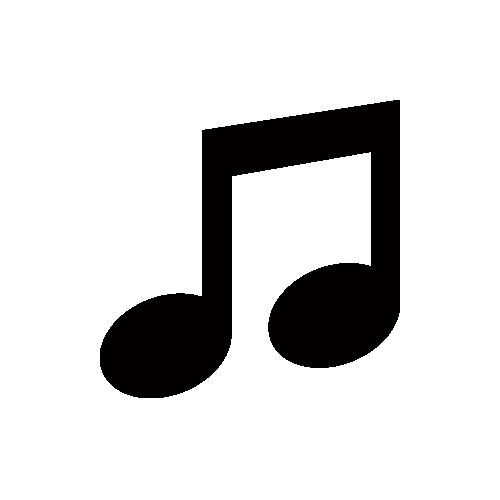 音符 モノクロアイコン素材