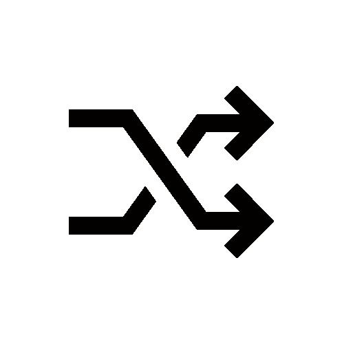 シャッフル モノクロアイコン素材