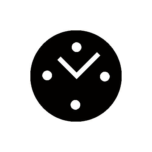 時計 シルエット モノクロアイコン素材