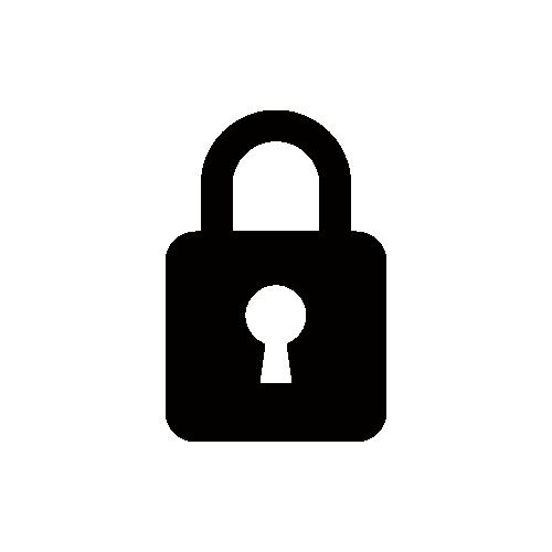鍵 モノクロアイコン素材