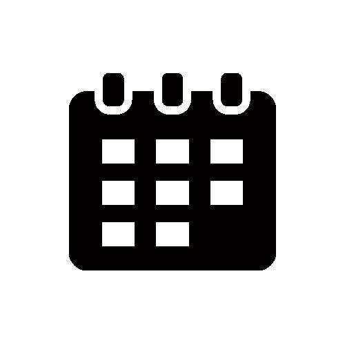 カレンダー モノクロアイコン素材