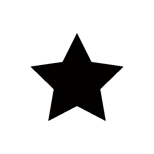 星マーク モノクロアイコン素材