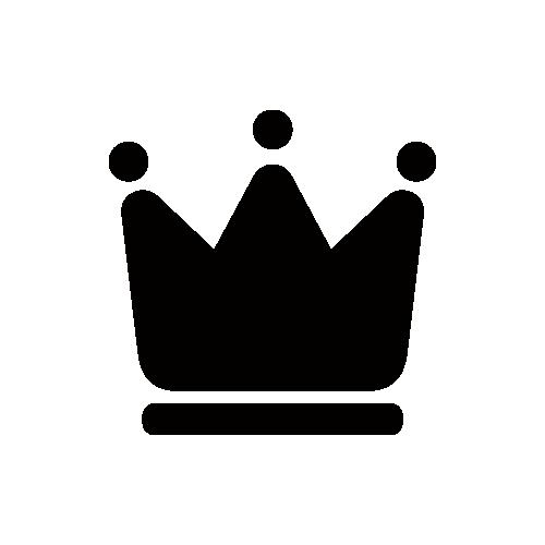 王冠 モノクロアイコン素材