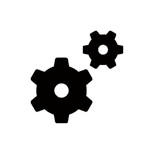 歯車 モノクロアイコン素材