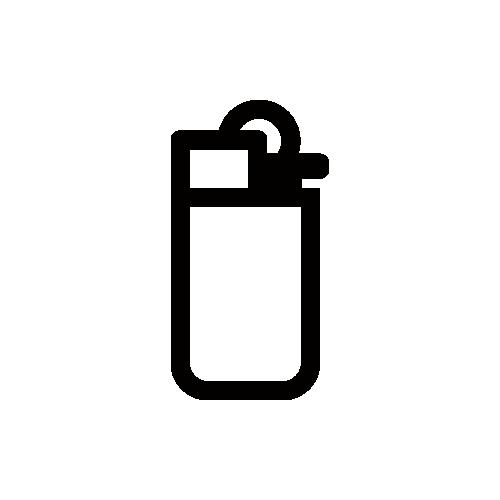 ライター モノクロアイコン素材