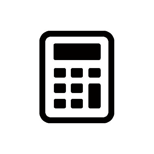 電卓 モノクロアイコン素材