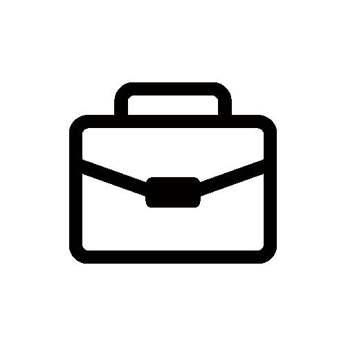 ビジネスバッグ モノクロアイコン素材
