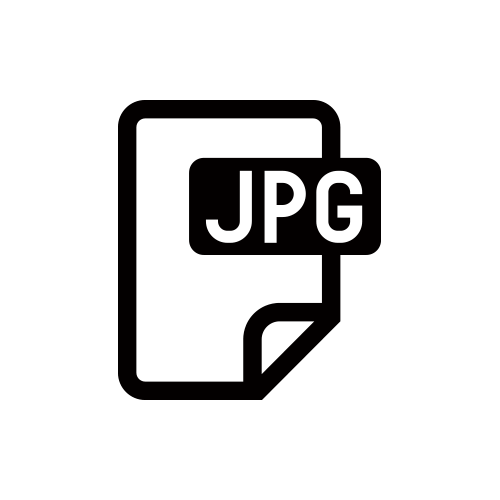 JPG モノクロアイコン素材