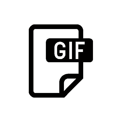 GIF モノクロアイコン素材