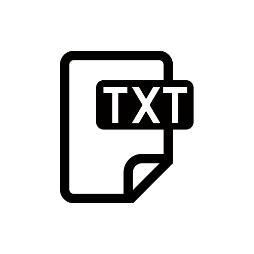 TXT モノクロアイコン素材