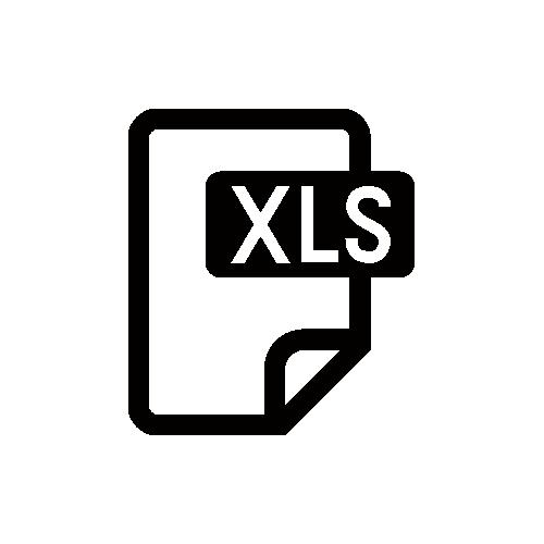 XLS・エクセル モノクロアイコン素材