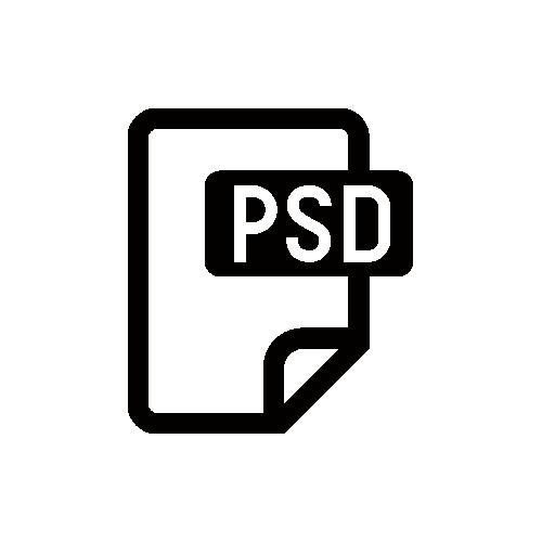 PSDデータ・PHOTOSHOP モノクロアイコン素材