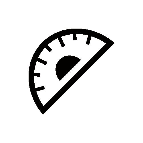 分度器 モノクロアイコン素材