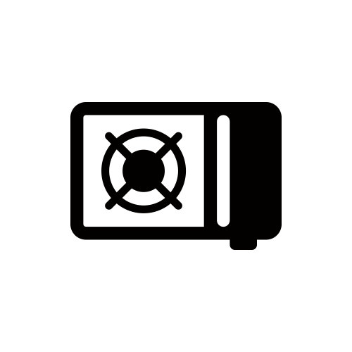 カセットコンロ モノクロアイコン素材