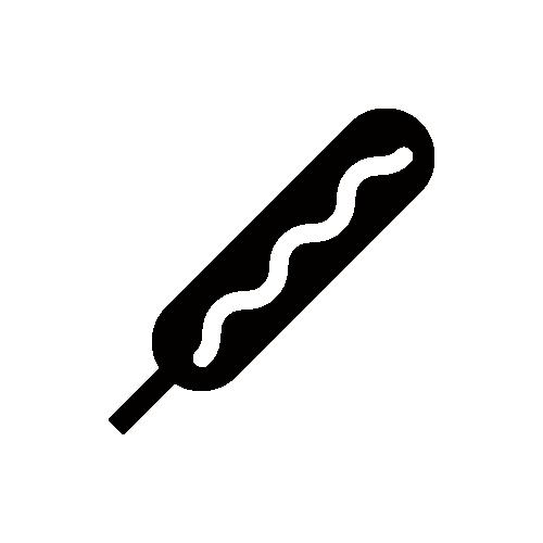 フランクフルト モノクロアイコン素材