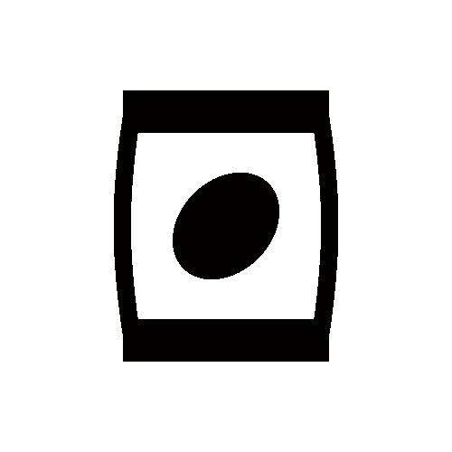 ポテトチップス モノクロアイコン素材