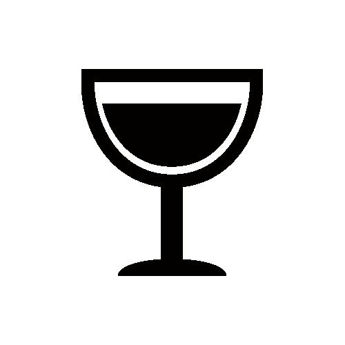 ワイン モノクロアイコン素材