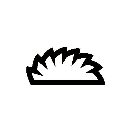 餃子 モノクロアイコン素材
