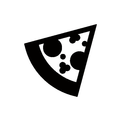 ピザ モノクロアイコン素材