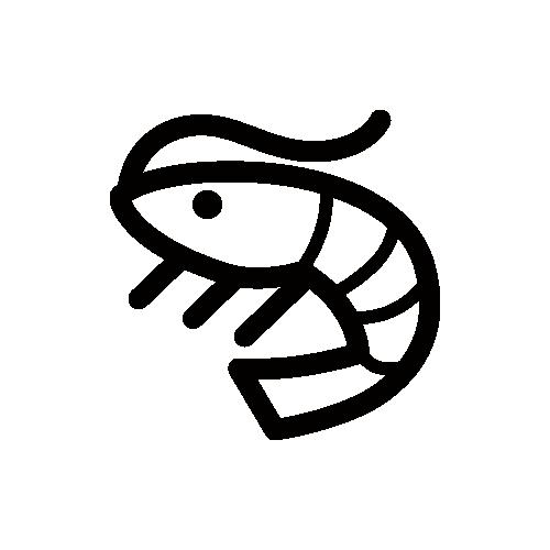 エビ モノクロアイコン素材