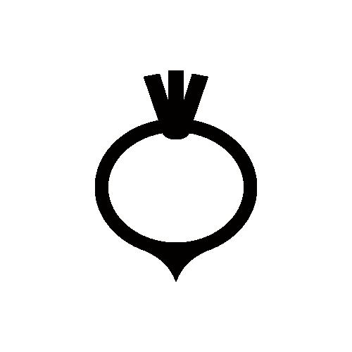 かぶ モノクロアイコン素材