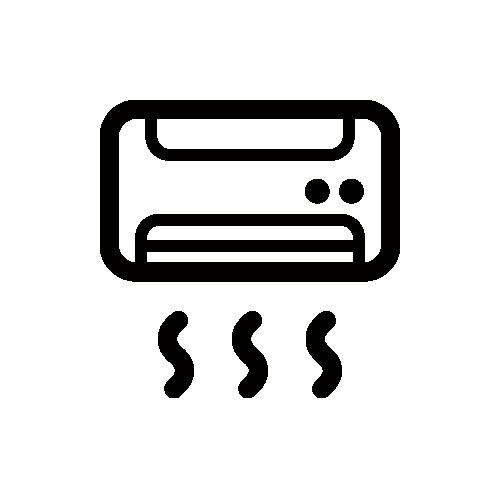 エアコン モノクロアイコン素材