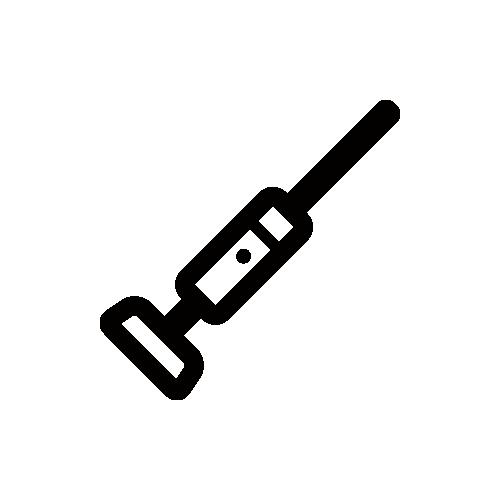 コードレス掃除機 モノクロアイコン素材