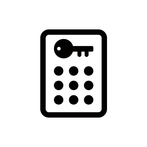 オートロック モノクロアイコン素材