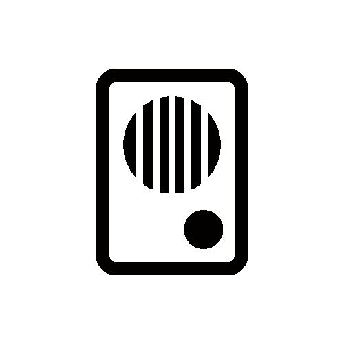 インターホン モノクロアイコン素材
