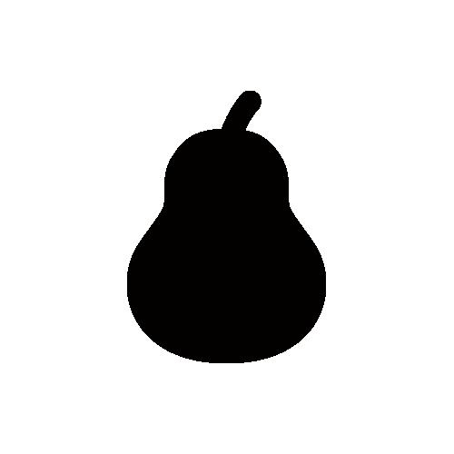 洋梨 モノクロアイコン素材