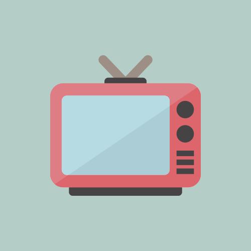 テレビ カラーアイコン フリー素材
