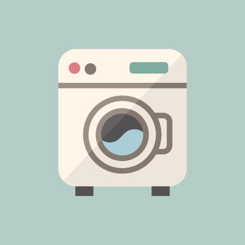 ドラム缶洗濯機 カラーアイコン フリー素材